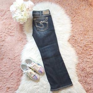 Silver Suki Surplus Mid Rise Distressed Jeans